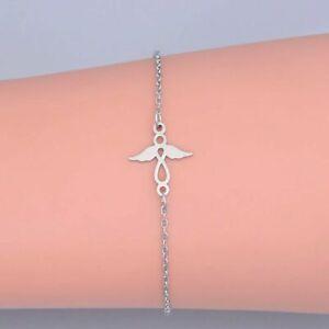 Gardian Angel Charm Bracelet Adjustable Chain Womens Girls Jewellery FREEPOST