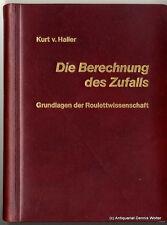 Die Berechnung des Zufalls v. Kurt von Haller 3106010010