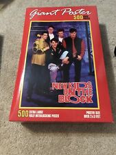 New Sealed! Vintage New Kids On The Block Giant 500 Piece Xl Poster Puzzle