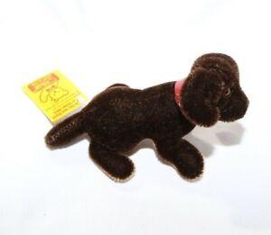 Steiff Miniature Mohair Toy Dog Waldi Dachshund Puppy - Mini 1990s Germany