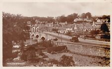NEWTON-STEWART - BRIDGE & OLD CAR - LOVELY REAL PHOTO, NATIONAL SERIES 1944