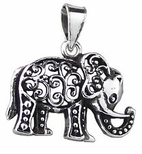 Elephant Pendant 925 Sterling Silver 24mm Drop : 2.9g