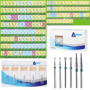 AZDENT Dental Diamond Burs For High Speed Handpiece Friction Grip 5Pcs/Box