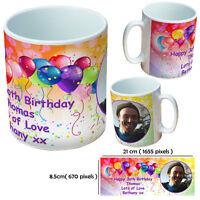 NEW 30TH BIRTHDAY PERSONALISED CUSTOM GIFT MUG YOUR IMAGE PHOTO TEXT