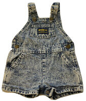OshKosh B'Gosh Baby Girl VestBack Denim Overall Shortalls Blue Size 6-9 Month