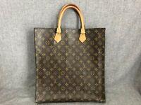 Authentic Louis Vuitton Tote Bag Sac Plat M51140 Brown Monogram