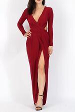 Dark Red Slinky Backless Maxi Dress Size 12 ASOS Marketplace