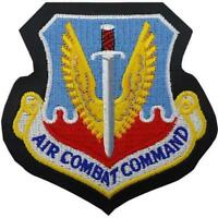 USAF Air Force Patch Air Combat Command - leather (Made in USA)