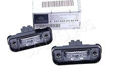 Genuine MERCEDES W220 Sedan License Plate Lamp 2 Pcs 2208200356