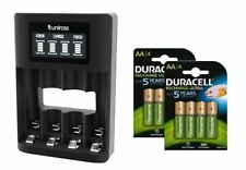 UNiROSS SMART FAST LCD CHARGER 8 x AA  DURACELL 2500 mAh RECHARGEABLES - MUSB