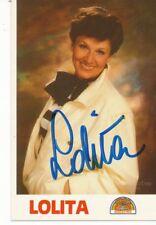Lolita † 2010  Musik Autogrammkarte original signiert 365101