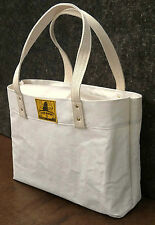Sale! Made in Maine RECYCLED WHITE SAILCLOTH TOTE BAG 4 Newfoundland Dog Rescue