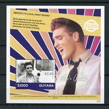 Guyana 2016 Gomma integra, non linguellato Elvis Presley la sua vita in francobolli Esercito bozza Board 1v S/S I