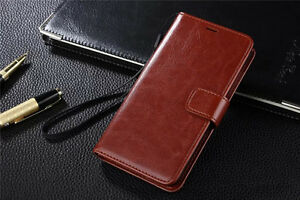 Premium Deluxe Quality Real Leather Flip Wallet Case For Apple iPhone Models