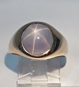 Approx 9.5ct Lavender Star Sapphire 14K Yellow Gold Ladies Ring Size 7.75