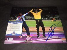 Usain Bolt Signed 8x10 Photo Jamaica Olympics Superstar 9x Gold Beckett #5