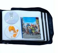 DVD CD Storage Case with Extra Wide Title Cover Pages for Blu Ray Movie Music