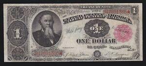 US 1891 $1 Treasury Note Plain Back FR 351 VF (365)