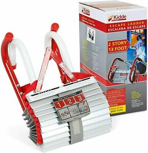 Kidde 468193 KL-2S, 2 Story Fire Escape Ladder with Anti-Slip Rungs, 13-Foot Red