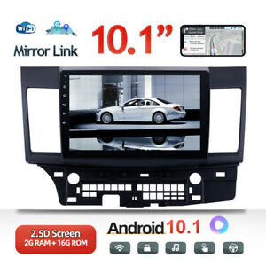 """2Din 10.1"""" Android 10.1 Car Stereo Radio MP5 Player For Mitsubishi Lancer 08-15"""