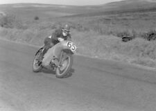 Moto Guzzi 350cc sohc works racer & Fergus Anderson - Ulster GP 1953 - photo