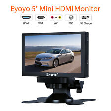 5 Inch Car RearView Monitor with HDMI VGA BNC Port Home Security Fast Ressptonse