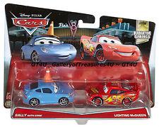 Disney Pixar Cars SALLY with Cone LIGHTNING MCQUEEN 2 Pack Radiator Springs 1:55