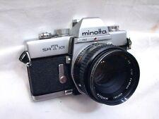 Vintage Minolta SRT 101 35mm Film SLR Camera w/Rokkor-X 50mm 1.7 Lens SR-T