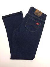 Women's DICKIES Relaxed Fit Jeans 10 Reg 34X32 Dark Wash blues,,Cute!,,euc