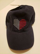 New Bass American flag heart Baseball Cap Hat Adjustable Flag Embroidered ladies