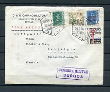 1938.ESPAÑA.SOBRE CIRCULADO Y CENSURADO.MUY BONITO. 4 SELLOS DISTINTOS
