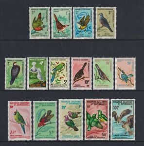 New Caledonia - 1966, 1f - 100f Birds Complete set - MNH - SG 403/17