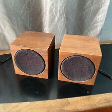 Ampex 414 speakers cube shelf MCM Mid Century Modern TESTED