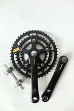 BLACK crankset shimano DEORE XT FC-M730 biopace 28/38/48 0519