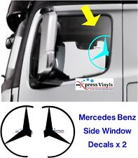 Mercedes calcomanías X 2 Pegatinas de Vinilo Ventana Gráfico Camión Actros Arocs Hogar