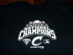 Columbus Clippers 2010 Triple A National Champions XL T-Shirt Cleveland Indians