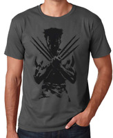 X-Man Marvel Comic Wolverine Logan T-Shirt Different Colors Adult Sizes S-2XL