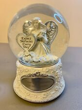 Things Remembered Miracle Angel Rotating Music Box Snow Globe Amazing Grace