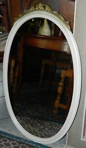 Spiegel WANDSPIEGEL altweiss Rokoko-Stil 88 cm hoch