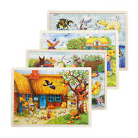 60 Pieces Wooden Kids Puzzle Toys Children Education Learning Puzzles Toy new