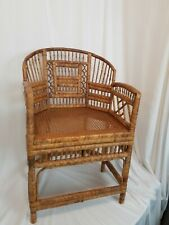 Brighton Pavilion Vintage Chinoiserie Style Rattan Bamboo Chair