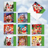 MQ4983XSG-B1x10 Christmas Fingers: 10 Assorted 'Square-Top' Christmas Note Cards