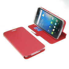 Custodia Per Acer Liquid Z630 Book-Style Protettiva Cellulare a Libro Rosso