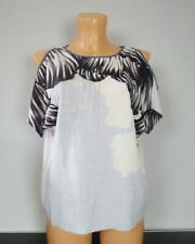 Zara Collection White Black Short Sleeve Top Size S