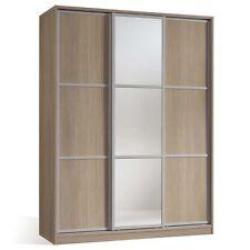 Armario ropero cambrian de 3 puertas correderas con espejos para dormitorio