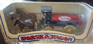 Horse And Wagon Coin Bank By Ertl In Box TrueValue NEW IN BOX