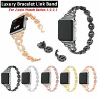 Women Stainless Steel Band for Apple Watch Series 4 3 2 1 38mm 42mm 40mm 44mm US