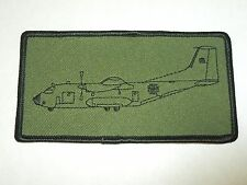 Green Air Force Plane Rectangle Sewing Patch
