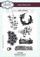 Creative Expressions Vals De Medianoche CEC804 A5 conjunto de sello claro Lisa Horton