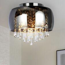 Kristall Glas Decken Leuchte rauch Wohn Zimmer Beleuchtung Chrom Design Lampe